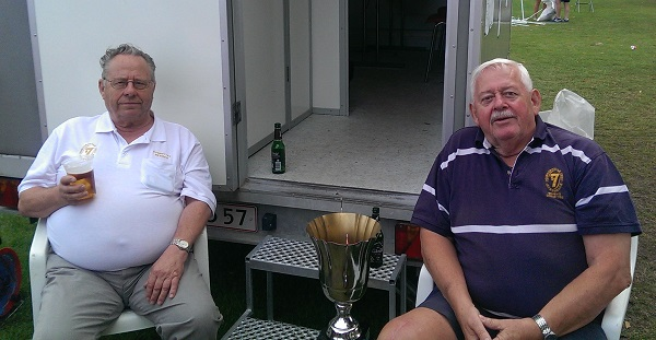 Erik Andersen (left) together with former RK Speed president Jørgen Larsen at Copenhagen Scandinavian Sevens 2014